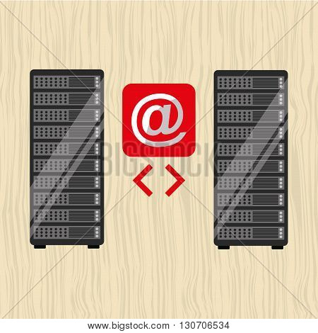 data storage design, vector illustration eps10 graphic