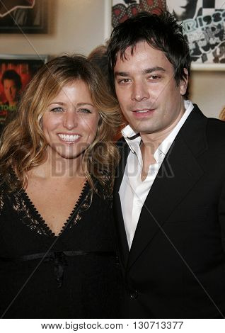 Jimmy Fallon and Nancy Juvonen at the Los Angeles premiere of 'Music and Lyrics' held at the Grauman's Chinese Theater in Hollywood, USA on February 7, 2006.