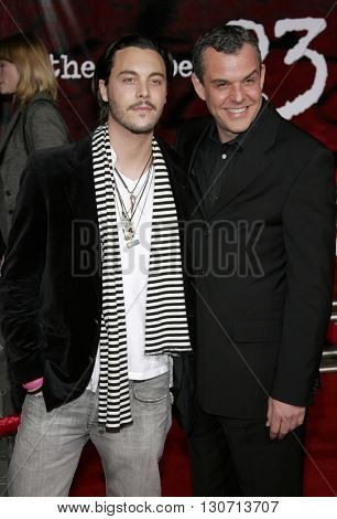 Danny Huston and Jack Huston at the Los Angeles premiere of 'The Number 23' held at the Orpheum Theater in Los Angeles, USA on February 13, 2007.