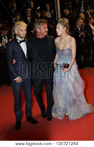 Hopper Penn, Sean Penn, Dylan Penn  attends 'The Last Face'  Premiere at the 69th Festival de Cannes.
