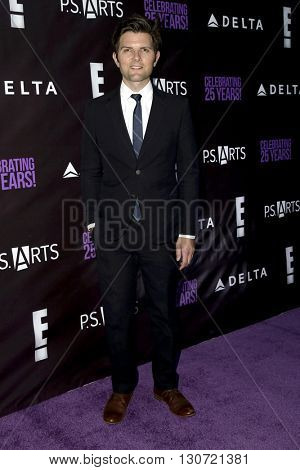 LOS ANGELES - MAY 20:  Adam Scott at the PS Arts - The Party at NeueHouse Hollywood on May 20, 2016 in Los Angeles, CA