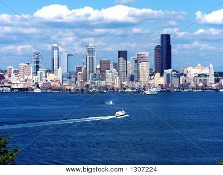 Seattle Skyline & Boats