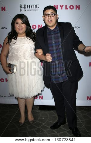 LOS ANGELES - MAY 12:  Raini Rodriguez, Rico Rodriguez at the NYLON Young Hollywood May Issue Event at HYDE Sunset on May 12, 2016 in Los Angeles, CA