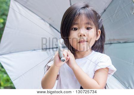 Thai Girl Hold Umbrella