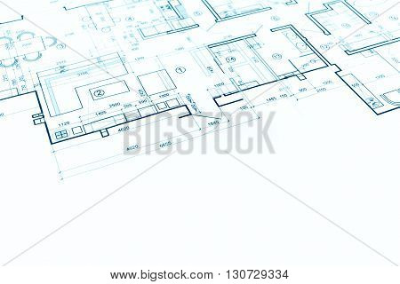 Blueprint Floor Plan, Technical Drawing, Construction Background
