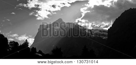 Wetterstein, Swiss Alps - snow capped mountains and deep valleys stunning view breath-taking panorama