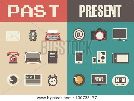 retro and modern technology past to present