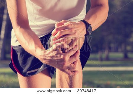 Jogging injury while jogging and exercise outdoors.