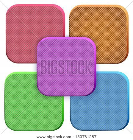 Icons of soft foam material. Technical illustration Demonstration of the structure of the material. Vector Illustration isolated on white background