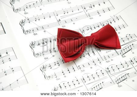 Bow Tie On Sheet Of Printed Music