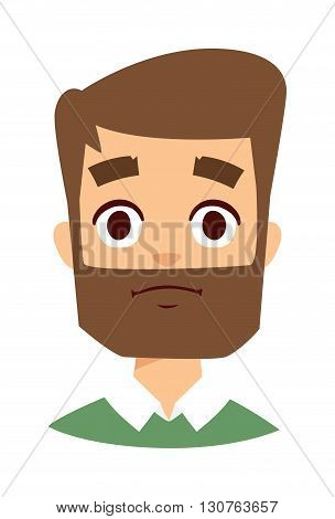Sadness adult man. Sadness man vector and cartoon sadness man face. Sadness man sadness emotions and sad expression face adult male portrait pain, depression man face.