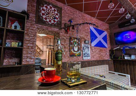 VinnitsaUkraine - January 25: Interior of