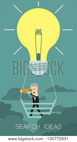 Search Big Idea. Business concept cartoon illustration.