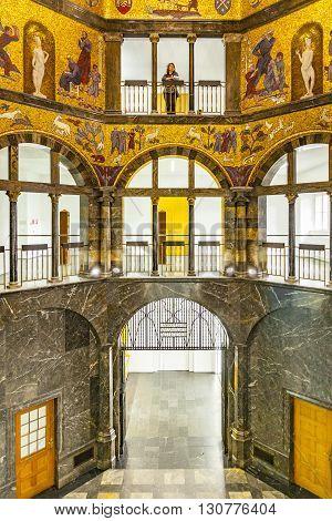 People Visit The City Museum In Wiesbaden