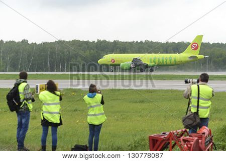 Spotter Aircraft Photographed During Takeoff.