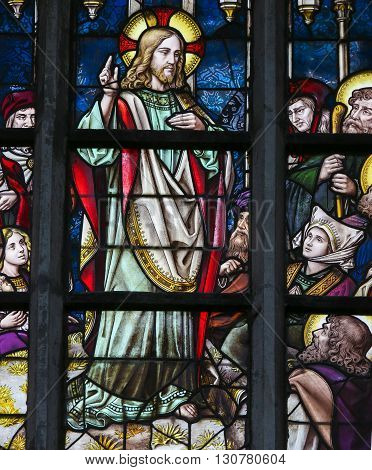 Stained Glass - Sermon On The Mount