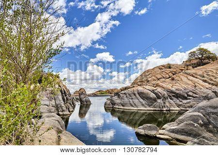 Granite Mountain Lake Quiet Inlet Drought Water Level