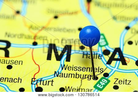 Naumburg pinned on a map of Germany