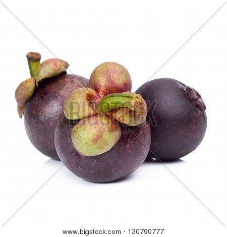 mangosteen fruit, mangosteen isolated on white background.