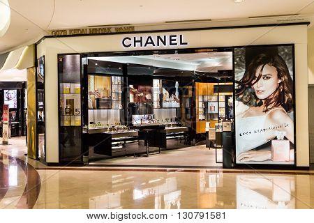 Kuala Lumpur, Malaysia, May 20, 2016: A Chanel Outlet At Klcc, Kuala Lumpur. Chanel Operates Some 31