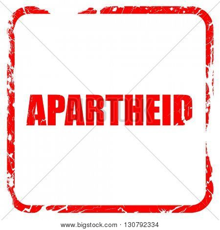 apartheid, red rubber stamp with grunge edges