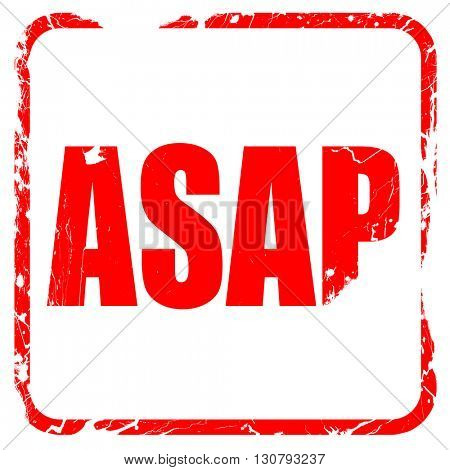 asap, red rubber stamp with grunge edges
