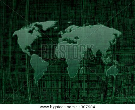 digital map of the world see more similar images in my portfolio poster