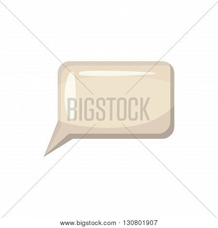 Speech bubble icon in cartoon style on a white background