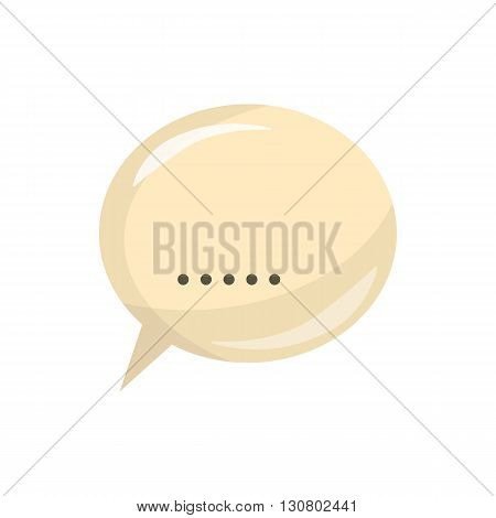 Glossy speech bubble icon in cartoon style on a white background