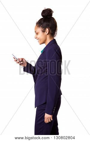 Young African Businesswoman Using Cell Phone