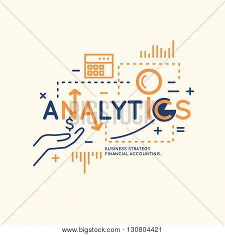 Business infographic data analytics. Bright modern vector illustration of Analytics and statistics.