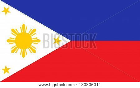 Philippines flag image for any design in simple style