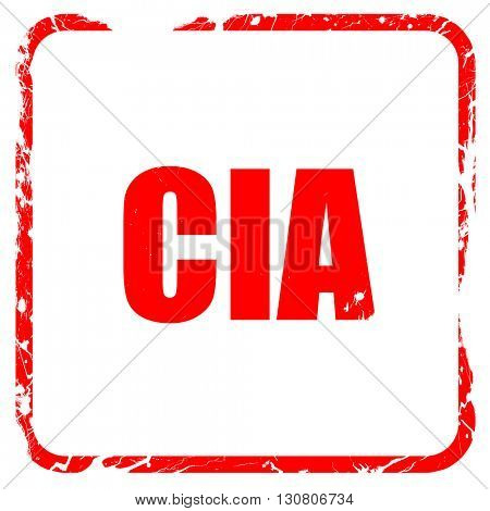 cia, red rubber stamp with grunge edges