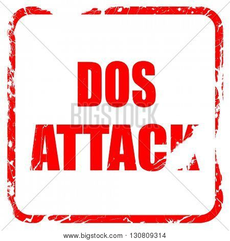 DOS warfare background, red rubber stamp with grunge edges