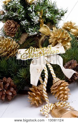 Christmas decoration isolated on white background.