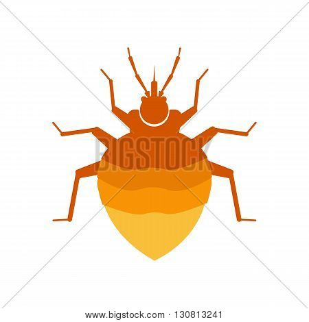 flea vector illustration. flea isolated on white background. flea vector icon illustration. flea isolated vector.
