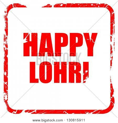 happy lohri, red rubber stamp with grunge edges