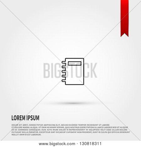 Organizer  icon. Organizer  symbol. Flat design style. Template for design.