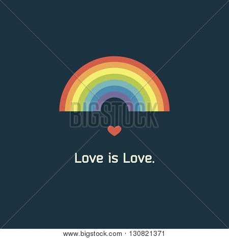 Rainbow greeting card. love is love regardless of gender. The 14th of February. lgbt pride.
