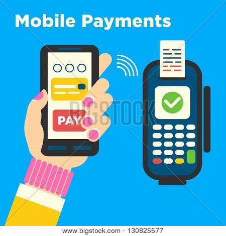 The Concept For Mobile Contactless Payments