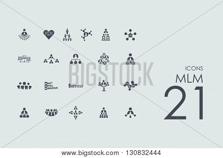 MLM vector set of modern simple icons