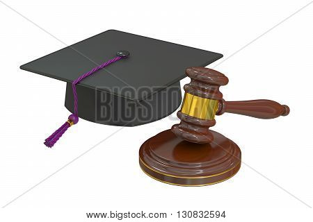 Law education concept 3D rendering isolated on white background