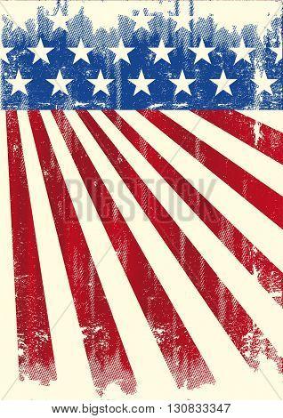 american vintage flag banner. A grunge american flag
