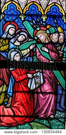 Stained Glass - Jesus And The Veil Of Veronica