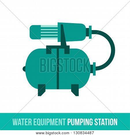 Vector Flat Icon Water Equipment