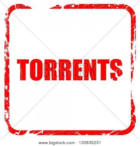 torrents, red rubber stamp with grunge edges