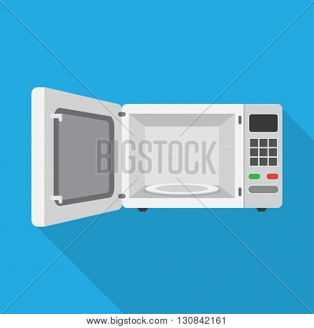 Microwave Oven with Open Door Vector illustration