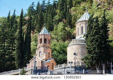 mam daviti church at Mama Daviti. Mtatsminda tbilisi georgia