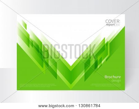 Cover design. Brochure, annual report cover template. modern Geometric Abstract background. Green diagonal lines. vector-stock illustration EPS 10