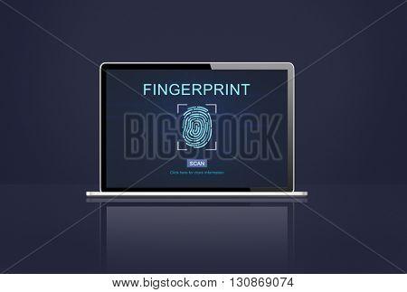 Fingerprint Identity Thumbprint Id Concept